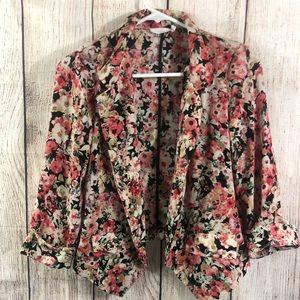Lush floral blazer